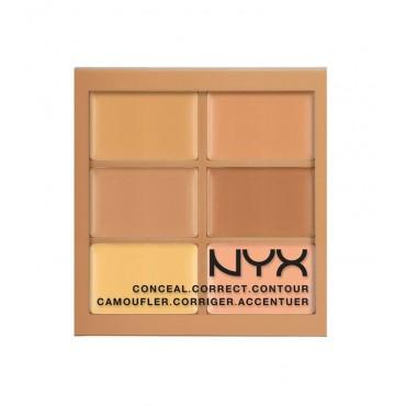 NYX Professional Makeup - Paleta de Correctores Conceal Correct Contour - 3CP02: Medium