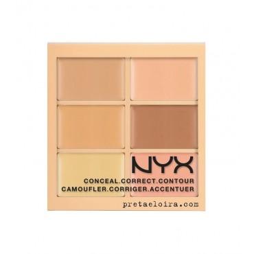 NYX Professional Makeup - Paleta de Correctores Conceal Correct Contour - 3CP01: Light