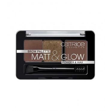 Catrice - Paleta para cejas Matt & Glow - 020: Hot Chocoholic
