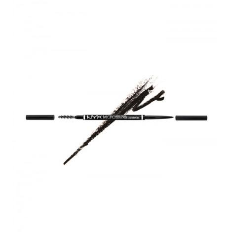 NYX Professional Makeup - Lápiz para cejas Micro Brow - MBP08: Black
