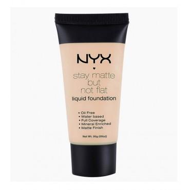 NYX Professional Makeup - Base de maquillaje fluida Stay Matte But Not Flat - SMF01: Ivory