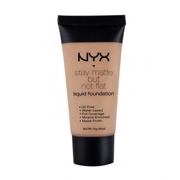 NYX Professional Makeup - Base de maquillaje fluida Stay Matte But Not Flat - SMF10: Caramel