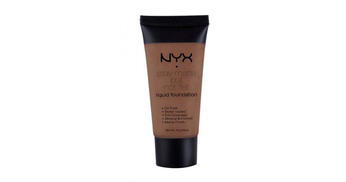 NYX - Base de maquillaje fluida Stay Matte But Not Flat - SMF15: Chestnut