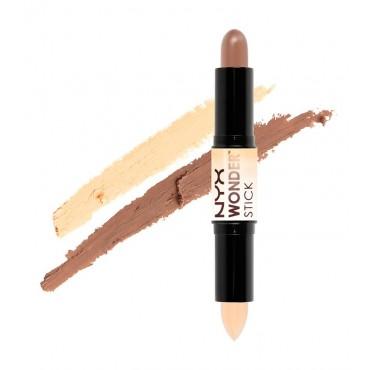 NYX Professional Makeup - Iluminador y contorno en crema Wonder Stick WS01- Light