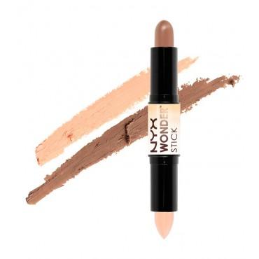 NYX Professional Makeup - Iluminador y contorno en crema Wonder Stick WS04 - Universal