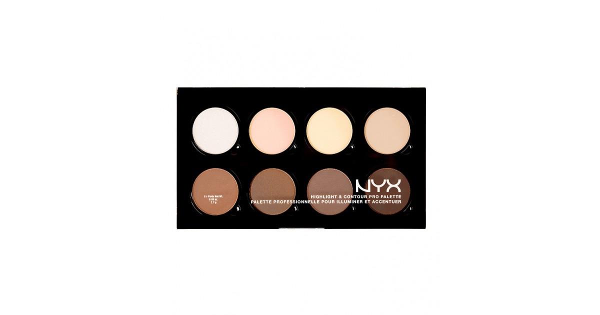 Nyx - Paleta de iluminador y Contorno Pro