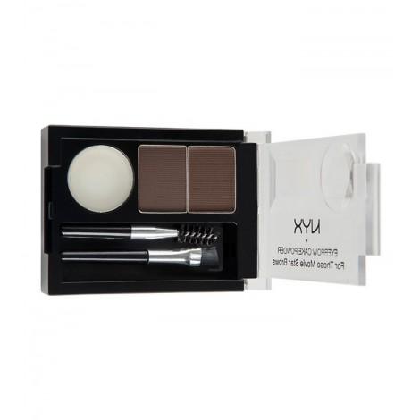 NYX Professional Makeup - Kit de cejas - Dark Brown/Brown