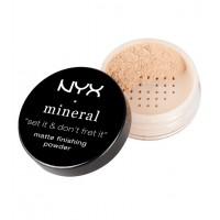 Nyx - Polvos sueltos acabado mineral matificante Fisnishing Powder - Light/Medium