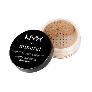 Nyx - Polvos sueltos acabado mineral matificante Finishing Powder - Medium/Dark