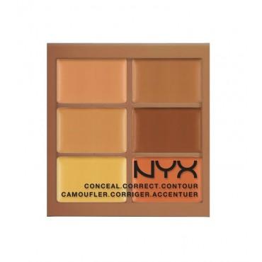 NYX - Paleta de Correctores Conceal Correct Contour - 3CP03: Deep