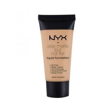 NYX Professional Makeup - Base de maquillaje fluida Stay Matte But Not Flat - SMF07: Warm Beige