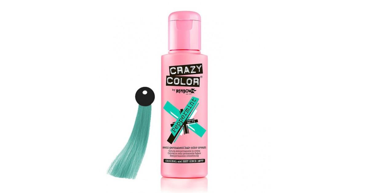 CRAZY COLOR Nº 71 - Crema colorante para el cabello - Peppermint 100ml