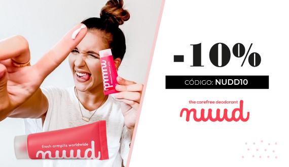 10% de descuento en Nuud desodorante natural de larga duración