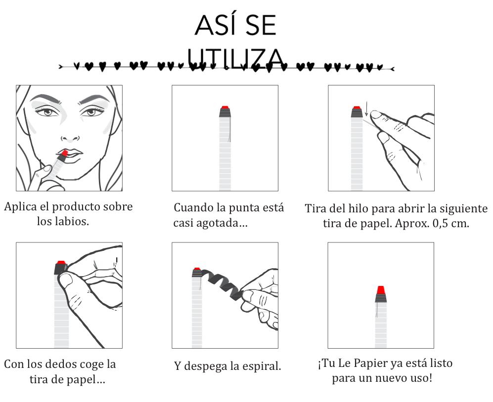Instrucciones de uso Le Papier