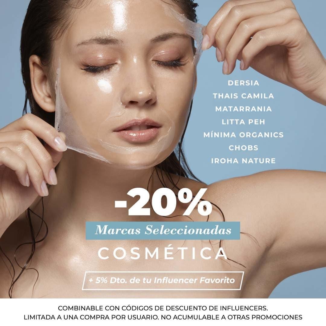 Oferta 20% descuento en marcas de cosmética seleccionadas