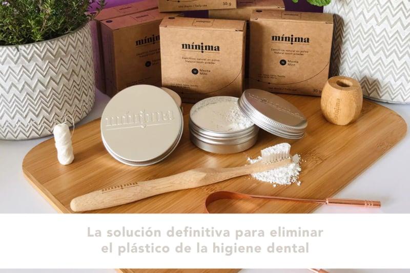 Higiene dental sin plástico Minima Organics en Canarias Makeup