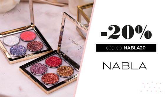 Nabla Cosmetics código descuento del 20% en Canarias Makeup