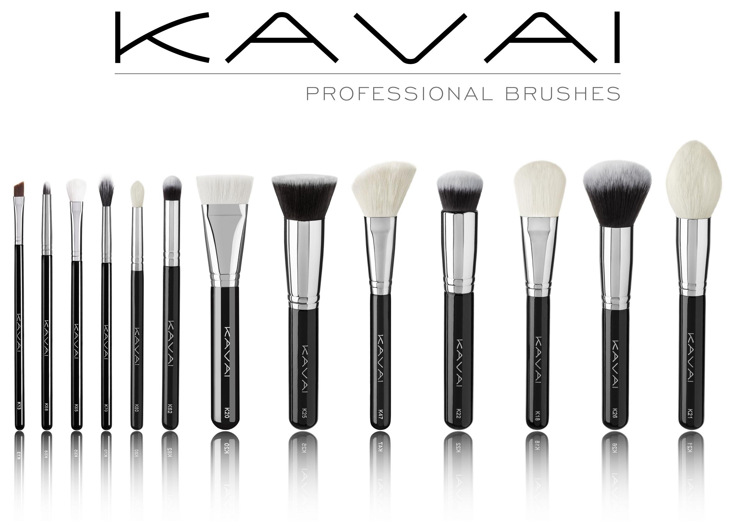 Colección de brochas profesionales Kavai