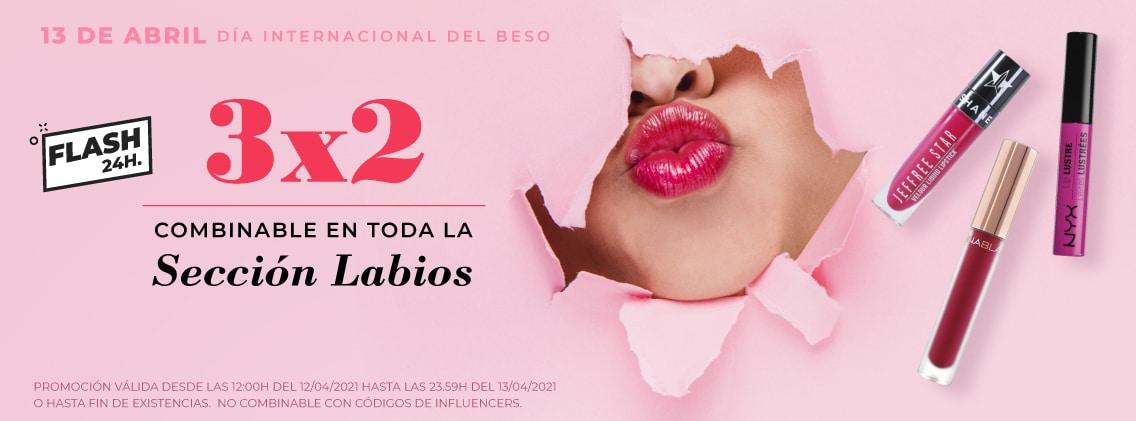 Oferta 3x2 en maquillaje para labios